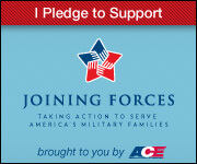 I Pledge to Support Military Families small badge