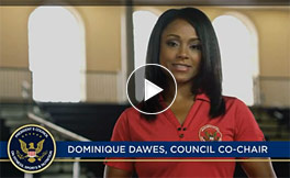 Dominique Dawes Video, Joining Forces Council Co-Chair