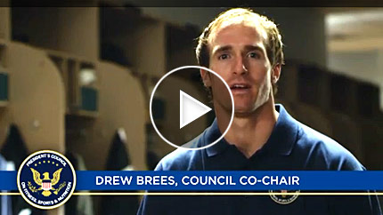 Drew Brees Video, Joining Forces Council Co-Chair